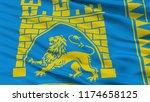 lviv city flag  country ukraine ...   Shutterstock . vector #1174658125