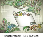 decorative background with...   Shutterstock .eps vector #117465925
