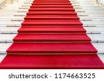 red carpet event with white... | Shutterstock . vector #1174663525