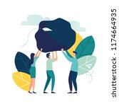 vector illustration  concept of ... | Shutterstock .eps vector #1174664935