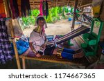 mae hong son   october 18  2014 ... | Shutterstock . vector #1174667365