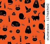 halloween vector seamless... | Shutterstock .eps vector #1174669642
