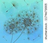 dandelion for design. abstract... | Shutterstock .eps vector #1174673005
