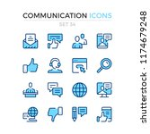communication icons. vector... | Shutterstock .eps vector #1174679248