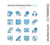 online communication icons.... | Shutterstock .eps vector #1174680022