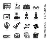 business icons  management and... | Shutterstock .eps vector #117468646