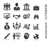 business icons  management and... | Shutterstock .eps vector #117468658