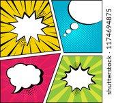 set of empty speech bubbles on... | Shutterstock .eps vector #1174694875