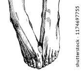 foot in vector on white... | Shutterstock .eps vector #1174697755