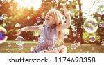Happy Little Girl In Autumn...