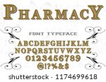 font handcrafted typeface...   Shutterstock .eps vector #1174699618