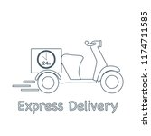 delivery motorbike. fast and... | Shutterstock .eps vector #1174711585