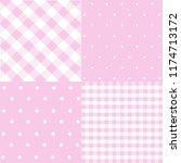 seamless patterns for baby girl ... | Shutterstock .eps vector #1174713172