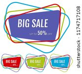 set of four big sale stickers... | Shutterstock . vector #1174717108