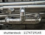 pipe insulation jackets for hot ... | Shutterstock . vector #1174719145