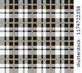 black and white tartan plaid... | Shutterstock .eps vector #1174722358