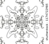 seamless pattern  with baroque... | Shutterstock .eps vector #1174722985