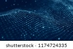 data technology illustration.... | Shutterstock . vector #1174724335