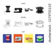 thread reel  sewing machine ... | Shutterstock .eps vector #1174731115