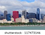 Chicago Skyline Panorama With...