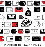wallet vector icon seamless...
