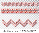 christmas candy border isolated ... | Shutterstock .eps vector #1174745332