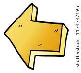 cartoon doodle pointing arrow | Shutterstock .eps vector #1174747195