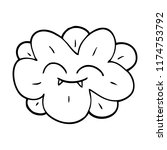 line drawing cartoon flower... | Shutterstock .eps vector #1174753792
