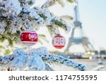 christmas tree covered with... | Shutterstock . vector #1174755595