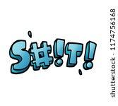 cartoon doodle swear word   Shutterstock .eps vector #1174756168