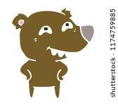 flat color style cartoon bear...   Shutterstock .eps vector #1174759885