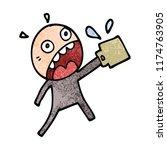 cartoon doodle man who has... | Shutterstock .eps vector #1174763905