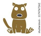cartoon doodle calm dog | Shutterstock .eps vector #1174767262