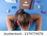 creative and idea crisis.... | Shutterstock . vector #1174774078