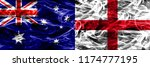 australia vs england colorful... | Shutterstock . vector #1174777195