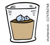 cartoon doodle whisky glass | Shutterstock .eps vector #1174783768