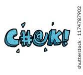 cartoon doodle swear word   Shutterstock .eps vector #1174787902
