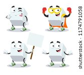 set of cartoon sugar cube... | Shutterstock .eps vector #1174791058