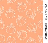Pumpkin Seamless Pattern....