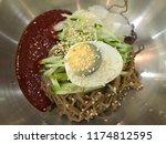 korean food   korean cold... | Shutterstock . vector #1174812595