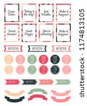 stickers for digital planner.... | Shutterstock .eps vector #1174813105
