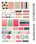 stickers for digital planner.... | Shutterstock .eps vector #1174813198