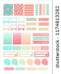 stickers for digital planner.... | Shutterstock .eps vector #1174813282