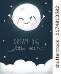 dream big little one cute hand... | Shutterstock . vector #1174813582