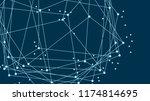 vector abstract futuristic... | Shutterstock .eps vector #1174814695