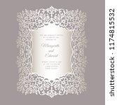 laser cut wedding invitation... | Shutterstock .eps vector #1174815532