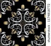 embroidery damask vector... | Shutterstock .eps vector #1174818772