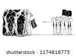cartoon stick drawing...   Shutterstock .eps vector #1174818775