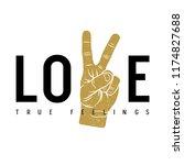 love slogan typography. t shirt ... | Shutterstock .eps vector #1174827688
