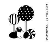 sweet candies lollipops... | Shutterstock .eps vector #1174834195